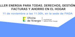 TALLER DE ENERGÍA 11 de noviembre a las 11:30h