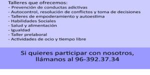 TE ACOMPAÑO. ALTERNATIVAS DE OCIO SALUDABLE EN EL BARRIO DE FUENSANTA